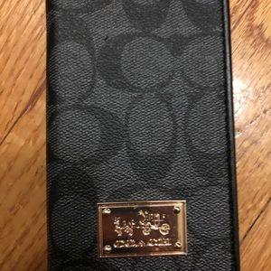 Coach iPhone X wallet case black